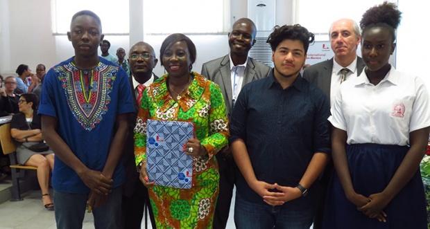 La ministre de l'éducation ivoirienne au LIJM, CTondroit, juin 2017